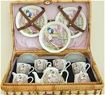 Jemima Puddle Duck Childs Tea Set  for 4 (cloth case)